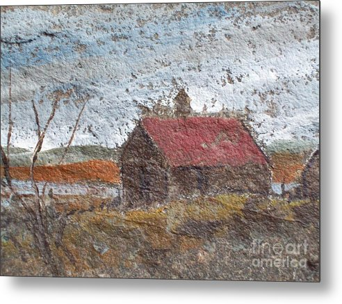 Storm. Clouds Metal Print featuring the painting Approaching Storm by Norman F Jackson