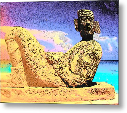 Chac Mool Metal Print featuring the photograph Chac Mool by Mark Cheney