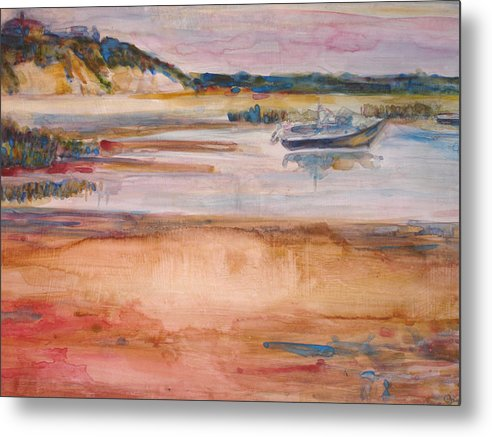 Landscape Metal Print featuring the painting Cole Brook Bay by Joyce Kanyuk