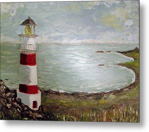 Lighthouse Metal Print featuring the painting Lighthouse by Craig Wade