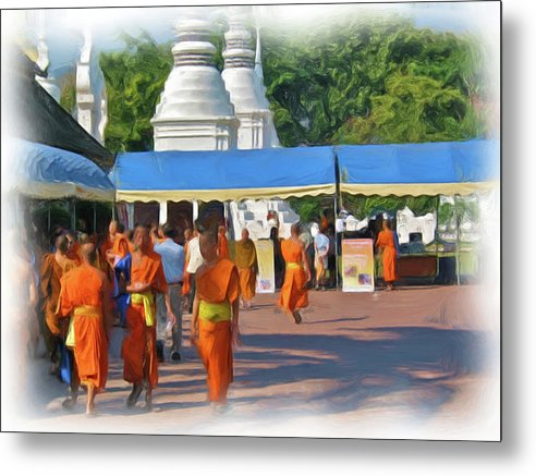 Buddhism Metal Print featuring the painting Novice Monk Fair 1 by Bates Clark