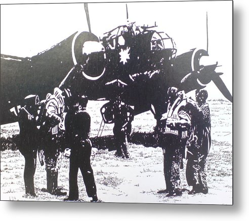 Planes Metal Print featuring the drawing Off To War by Andy Davis