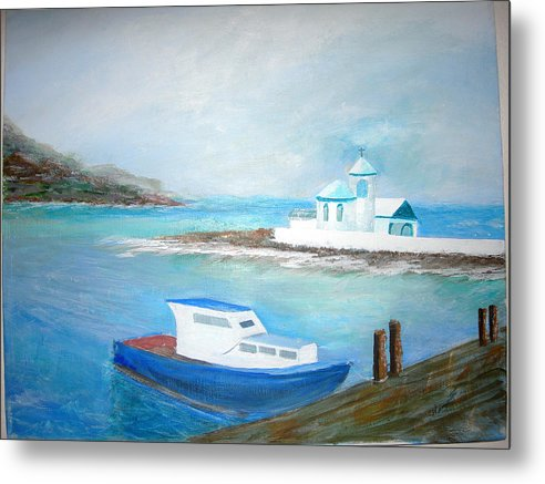 Seascape Metal Print featuring the painting Spirit Of The Sea by Jack Hampton