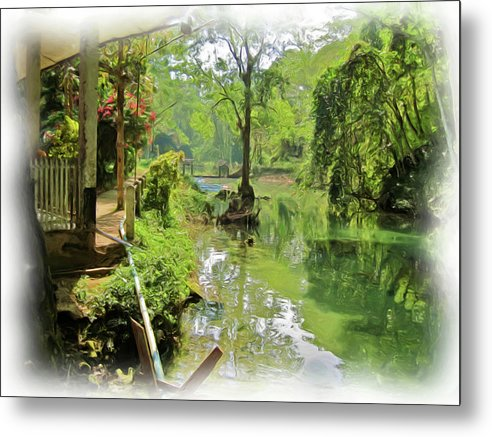 Water Metal Print featuring the painting Water by Bates Clark