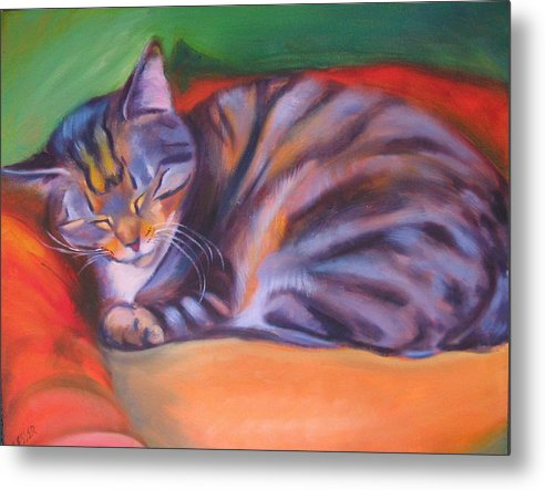 Metal Print featuring the painting Rescued by Kaytee Esser