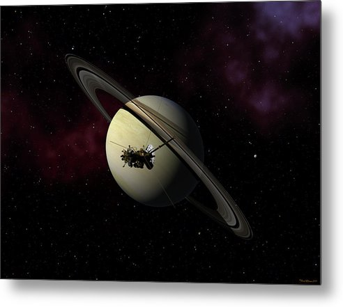 Cassini Metal Print featuring the digital art Keeping Watch by David Robinson