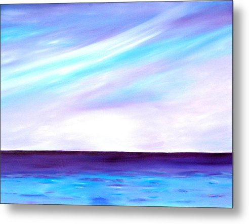 Caribbean Metal Print featuring the painting Calm Seas by Sula Chance