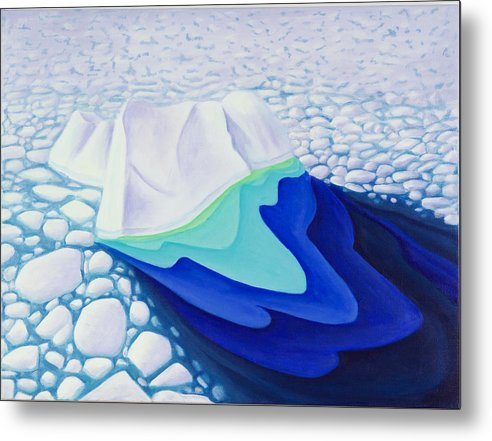 Arctic Metal Print featuring the painting Going With The Floe by Lynn Soehner