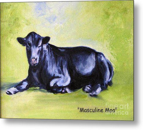 Bull Metal Print featuring the painting Frank by Adele Pfenninger