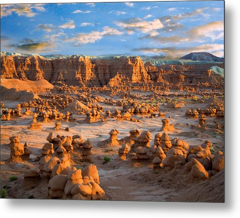 Goblin Valley State Park Metal Print featuring the photograph Goblin Valley State Park Utah by Utah Images