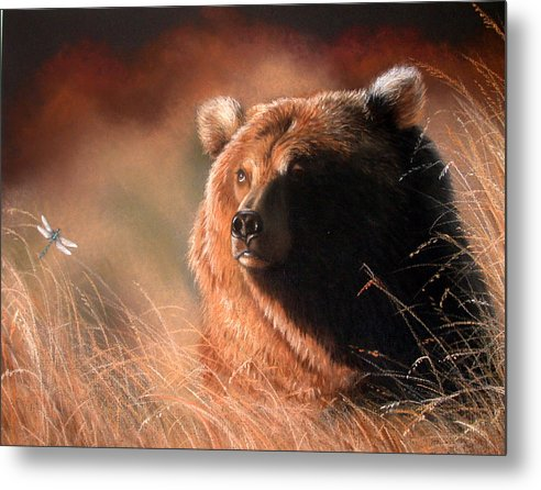 Wildlife Metal Print featuring the painting Day Dream by Deb Owens-Lowe