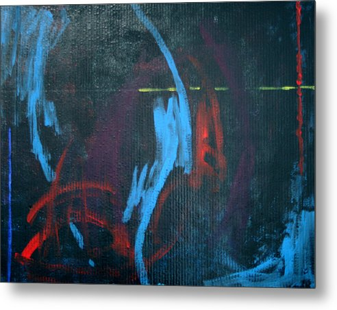 Abstract Metal Print featuring the painting Dance by Mordecai Colodner