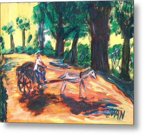 Horse Metal Print featuring the painting One Horsepower by Van Winslow