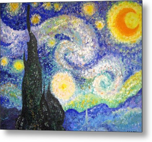Replicas Metal Print featuring the painting Replica Of Van Gogh by Katerina Wagner