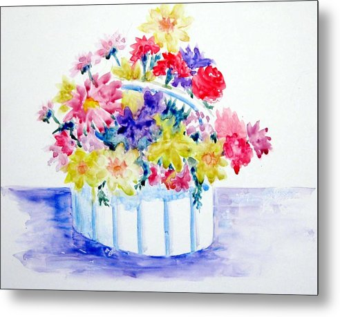 Flowers Metal Print featuring the painting Spring Bouquet by Marsha Elliott