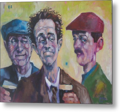 Figure Metal Print featuring the painting The Inside Joke by Kevin McKrell