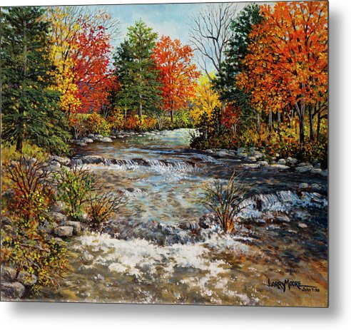 River Metal Print featuring the painting Living Waters by Larry Moore