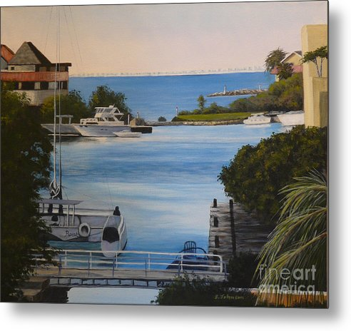 Mexico Metal Print featuring the painting Out To The Bay by Sheryn Johnson