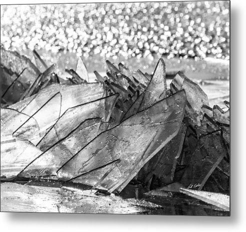 2015 January Metal Print featuring the photograph Cold And Broken by Bill Kesler