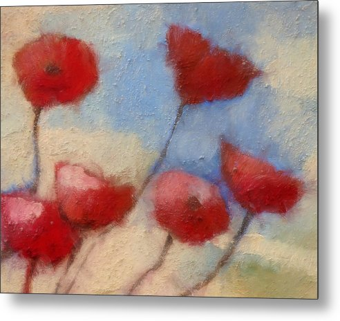 Impressionism Metal Print featuring the painting Poppies by Lutz Baar