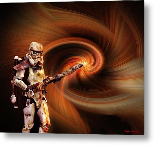 Metal Print featuring the photograph Space Soldier by Blake Richards