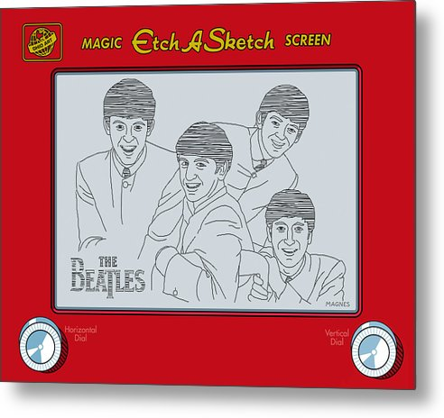 Beatles Metal Print featuring the digital art The Beatles by Ron Magnes