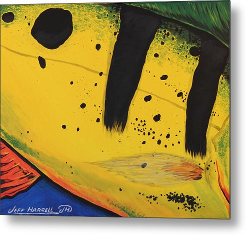 Peacock Bass Metal Print featuring the painting Peacock Bass by Jeff Harrell