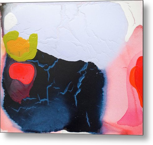 Abstract Metal Print featuring the painting Maya 01 by Claire Desjardins