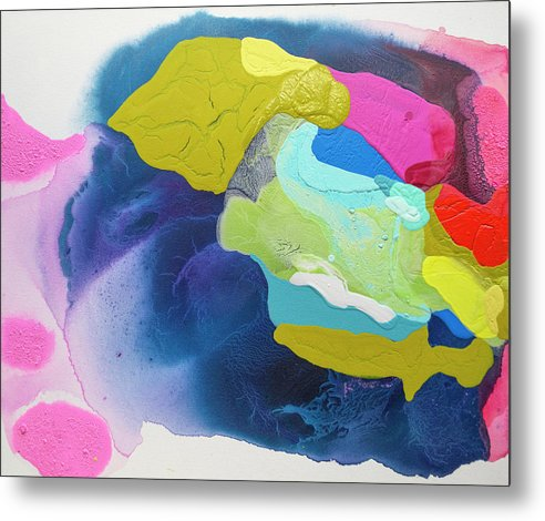 Abstract Metal Print featuring the painting Maya 02 by Claire Desjardins