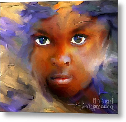 Haiti Metal Print featuring the painting Every Child by Bob Salo