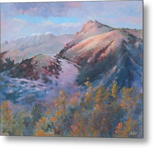 Mountains Metal Print featuring the painting High Country Weather by Don Trout