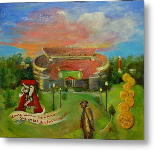 Roll Tide Metal Print featuring the painting Roll Tide by Ann Bailey