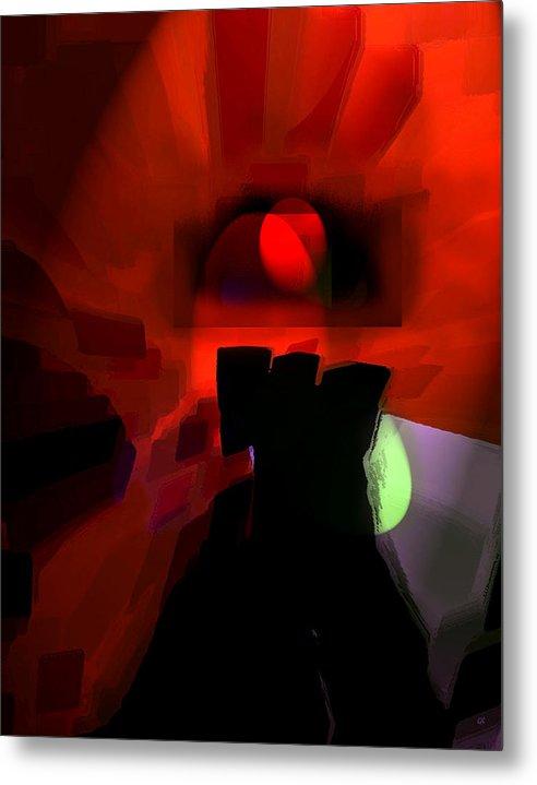 Abstract Digital Art Metal Print featuring the digital art Spirit by Gerlinde Keating - Galleria GK Keating Associates Inc