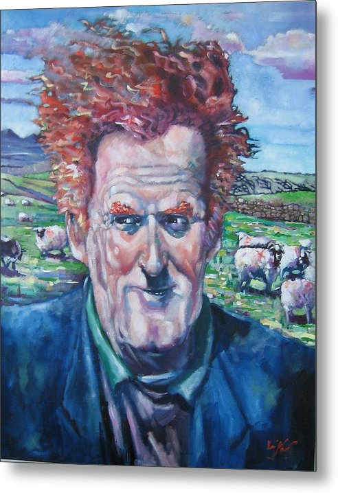 Ireland Metal Print featuring the painting The Mayo Shepard by Kevin McKrell