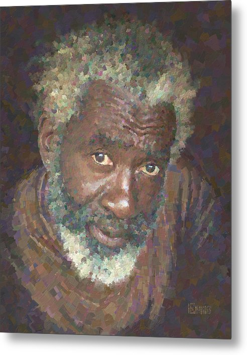 Portrait Metal Print featuring the painting Kenneth by Will Enns