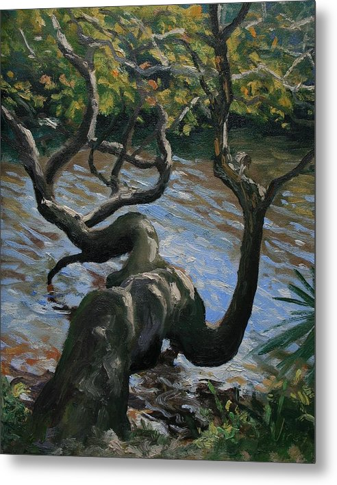 Oil Painting Metal Print featuring the painting Hanging Out by Michael Vires