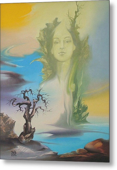 Metal Print featuring the painting Morning Rocks 3 by Zoltan Ducsai