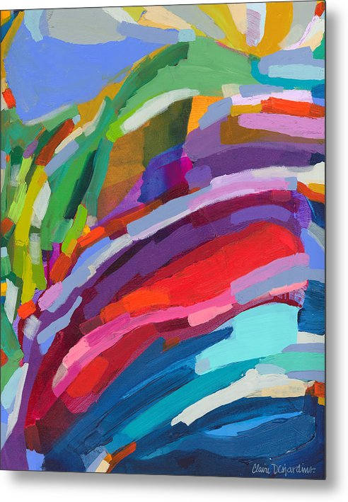 Abstract Metal Print featuring the painting Felicity by Claire Desjardins