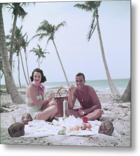 1950-1959 Metal Print featuring the photograph Peter Pulitzer by Slim Aarons