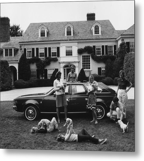 Pets Metal Print featuring the photograph Chapin Family by Slim Aarons