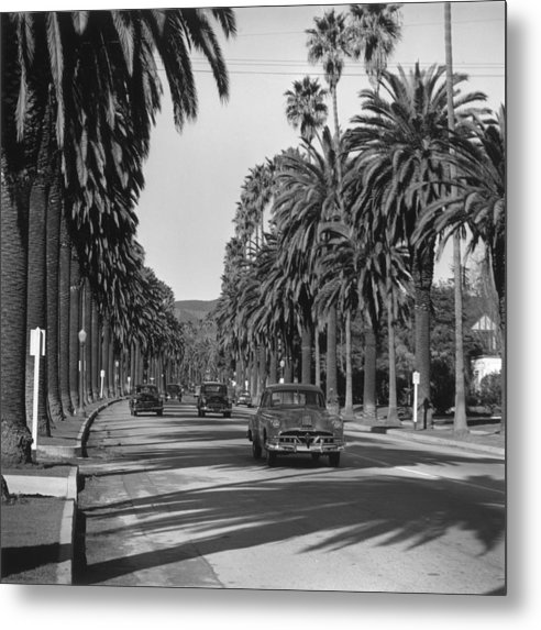 Shadow Metal Print featuring the photograph Cannon Drive by Slim Aarons