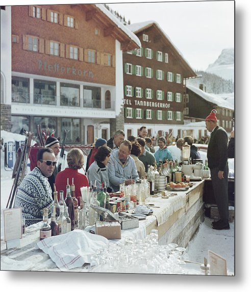 People Metal Print featuring the photograph Lech Ice Bar by Slim Aarons