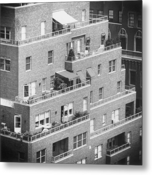 Park Lane Metal Print featuring the photograph Ny Apartments by Slim Aarons