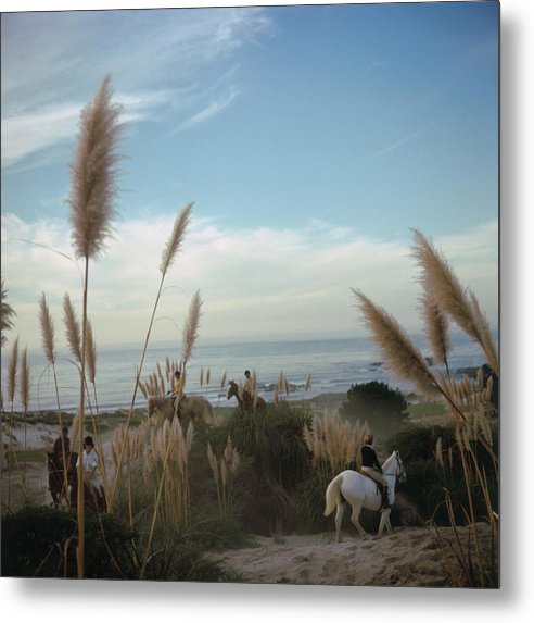 Horse Metal Print featuring the photograph Pebble Beach by Slim Aarons