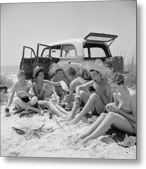 Straw Hat Metal Print featuring the photograph Spring Break by Slim Aarons