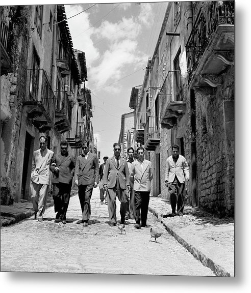 Sicily Metal Print featuring the photograph Lucky Luciano by Slim Aarons