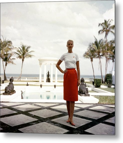 People Metal Print featuring the photograph Cz Guest by Slim Aarons