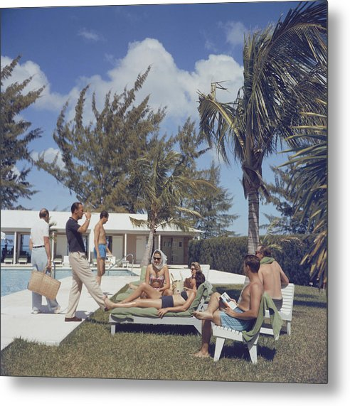 People Metal Print featuring the photograph At Lyford Cay by Slim Aarons