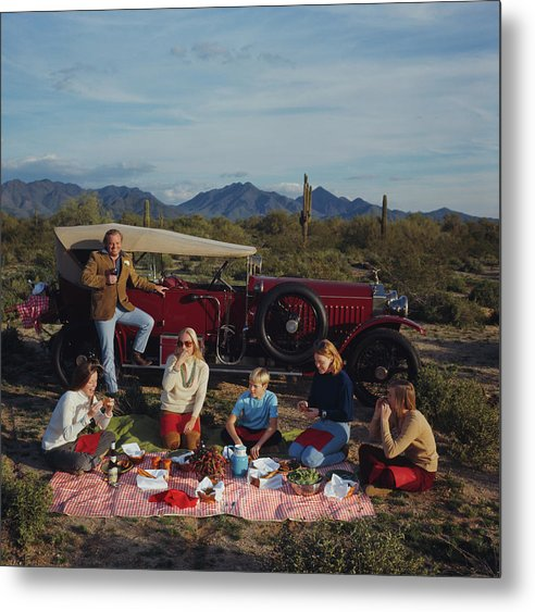 People Metal Print featuring the photograph Barrett Family Picnic by Slim Aarons