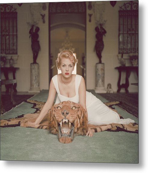 People Metal Print featuring the photograph Beauty And The Beast by Slim Aarons